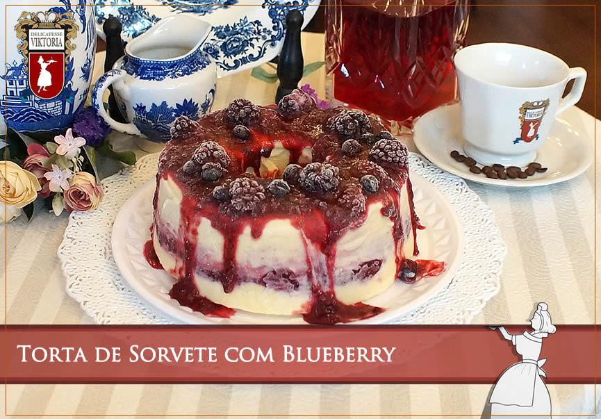 Torta de Sorvete com Blueberry torta receitas especiais